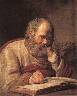 <i>St Luke</i> (Hals) Painting by Frans Hals