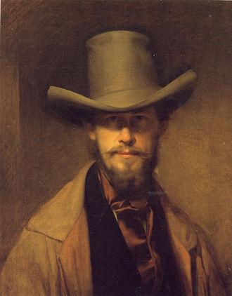 Franz Eybl - Image: Franz Eybl, Selbstporträt mit Hut