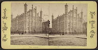 Collegiate Gothic - Image: Free Academy, from Robert N. Dennis collection of stereoscopic views