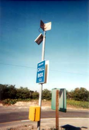 Emergency telephone - Call box on U.S. Interstate Highway