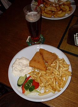 Fried cheese, french fries, and beer.jpg