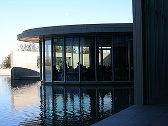 Tadao Ando - Modern Art Museum of Fort Worth, showing the restaurant