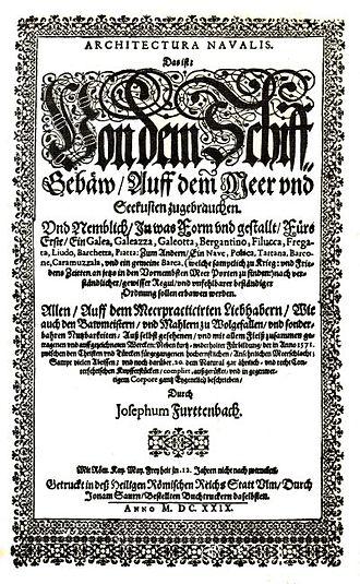 Joseph Furttenbach - Image: Furttenbach Architectura Navalis frontispiece 1629