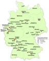 Fussball-Bundesliga Mannschaften je Ort in Deutschland 2017-2018.png