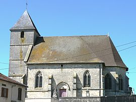 The church in Génicourt-sur-Meuse