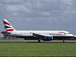 G-EUUS British Airways Airbus A320-232 landing at Schiphol (EHAM-AMS) runway 18R pic3.JPG