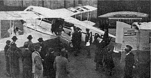 """Mrs Victor Bruce - De Havilland DH.84 Dragon (G-ACBW) of Air Dispatch, 1935. Published caption: """"Being Ill In Comfort: The Croydon demonstration of the D.H. Dragon which .... has been specially fitted up for permanent civil ambulance work by Air Dispatch Ltd."""""""