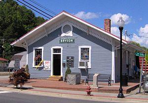 Bryson City, North Carolina - Great Smoky Mountains Railroad depot