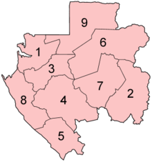 Gabon provinces numbered.png
