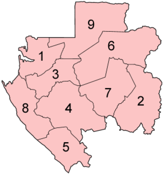 Subdivisions of Gabon - Provinces of Gabon