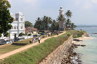 World Heritage Sites of Sri Lanka - The Fort: View of the Galle lighthouse, Sri Lanka