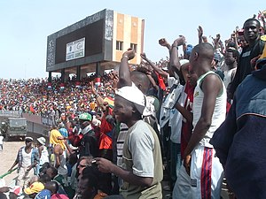 Gambia national football team - Football fans watching Gambia v Guinea