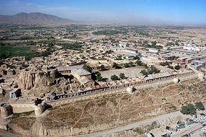 Paktia Province - Aerial view of a fort in Gardez, the capital of Paktia province