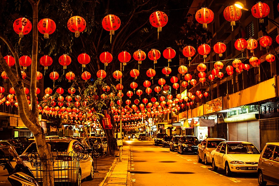 Gaya Street during Chinese New Year