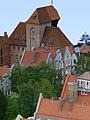 Gdańsk Główne Miasto - Brama Żuraw, od ulicy Szerokiej - widok z kościoła Mariackiego.jpg