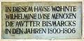 Gedenktafel Neukladower Allee 12 (Klado) Wilhelmine Luise Mencken.jpg