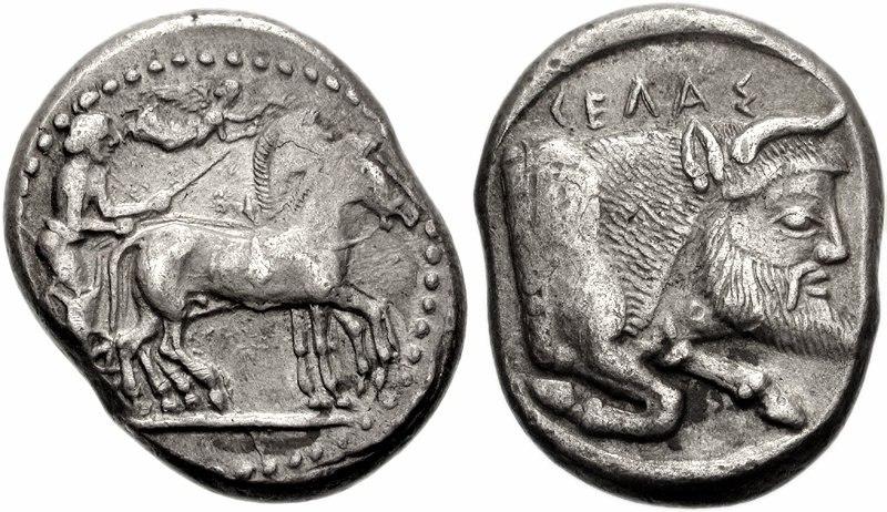 Gela. 480-475 BC Tetradrachm