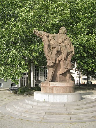 Jozef Cantré - Monument for Anseele in Ghent