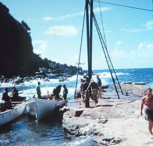 Adamstown, Pitcairn Islands - Image: Geodesy Collection Pitcairn Island