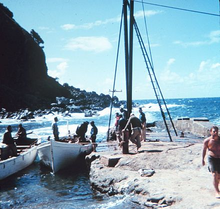 Geodesy operations on the Pitcairn Islands Geodesy Collection Pitcairn Island.jpg