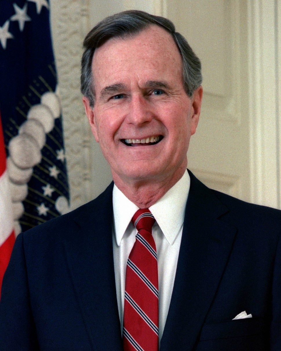 George H. W. Bush, President of the United States, 1989 official portrait cropped(b)