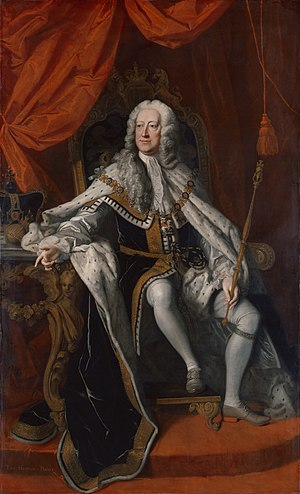 George II in 1727, the year of his succession.