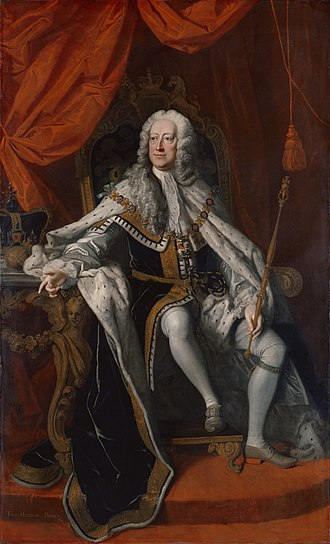 George II of Great Britain - Portrait by Thomas Hudson, 1744