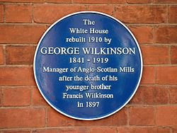 Photo of George Wilkinson blue plaque