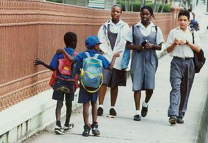 Education in Guyana - Image: Georgetown street