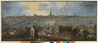 View of the Antwerp roadstead