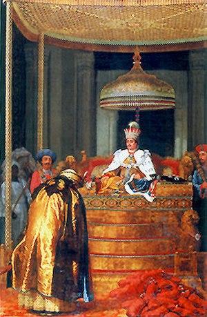 Ghazi-ud-Din Haidar Shah - 'Ghazi-ud-Din Haider, King of Awadh, receiving Tribute'