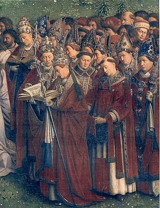 Purple - Image: Ghent Altarpiece D Popes Bishops