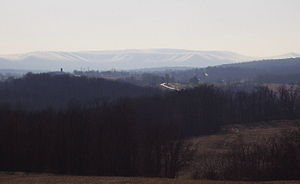 Martin Hill (Pennsylvania) - Martin Hill as viewed from the farms around Rainsburg