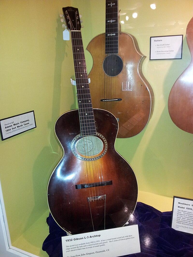 Gibson L-3 archtop guitar (1932), Kay Kraft guitar, Museum of Making Music.jpg