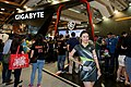 Gigabyte Technology booth and promotional model, Computex Taipei 20160531.jpg