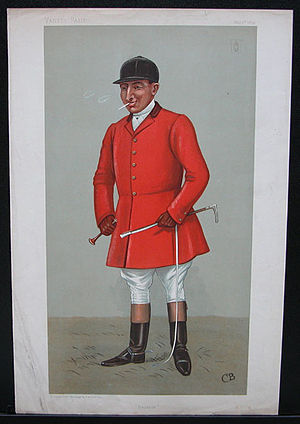 "Sir Gilbert Greenall, 1st Baronet - ""Belvoir"". Caricature by CB published in Vanity Fair in 1899."