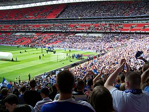 2009 Football League Two play-off Final - Gillingham fans celebrate after the match