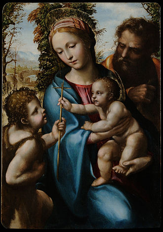 Il Sodoma - Holy Family with young Saint John