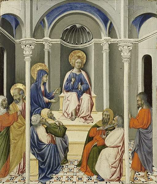 File:Giovanni di Paolo - Infant Christ Disputing in the Temple.jpg