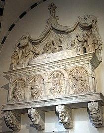 Giovanni gagini, monumento a giorgio fieschi, post 1461.JPG