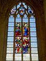 Gisors (27), collégiale St-Gervais-et-St-Protais, collatéral nord, verrière n° 21 - sainte Clotilde, saint Pierre 1.jpg