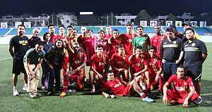 Global Cebu F.C. - Members and officials of the Global FC squad that competed at the 2013 Singapore Cup.