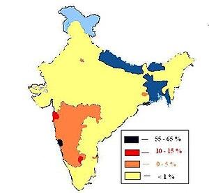 Luso-Asians - Distribution of Goan Catholics in India
