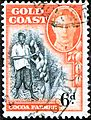 Gold Coast stamp George VI in Oval 6 d.jpg