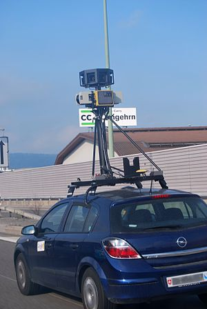 Google's Street View Camera Car in Wangen-Brüt...