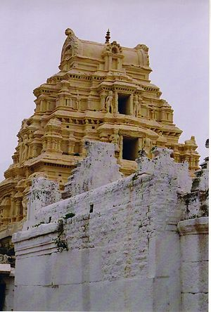 Medieval City of Vijayanagara - Temple in outer fortification