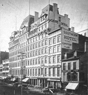 Grand Central Hotel - The hotel in the latter half of the 19th century