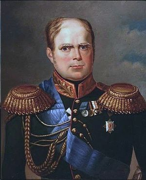 Grand Duke Konstantin Pavlovich of Russia - Portrait by George Dawe