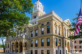 National Register of Historic Places listings in Gratiot County, Michigan - Image: Gratiot County Courthouse