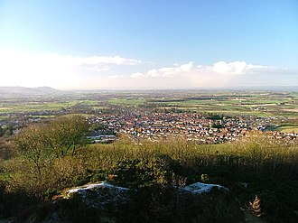 Great Ayton - Looking south-west to Great Ayton from Cliff Ridge
